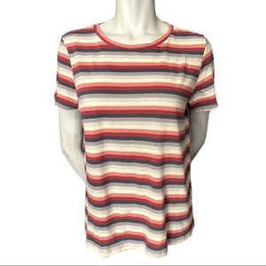 American Eagle Striped Tshirt Size Large